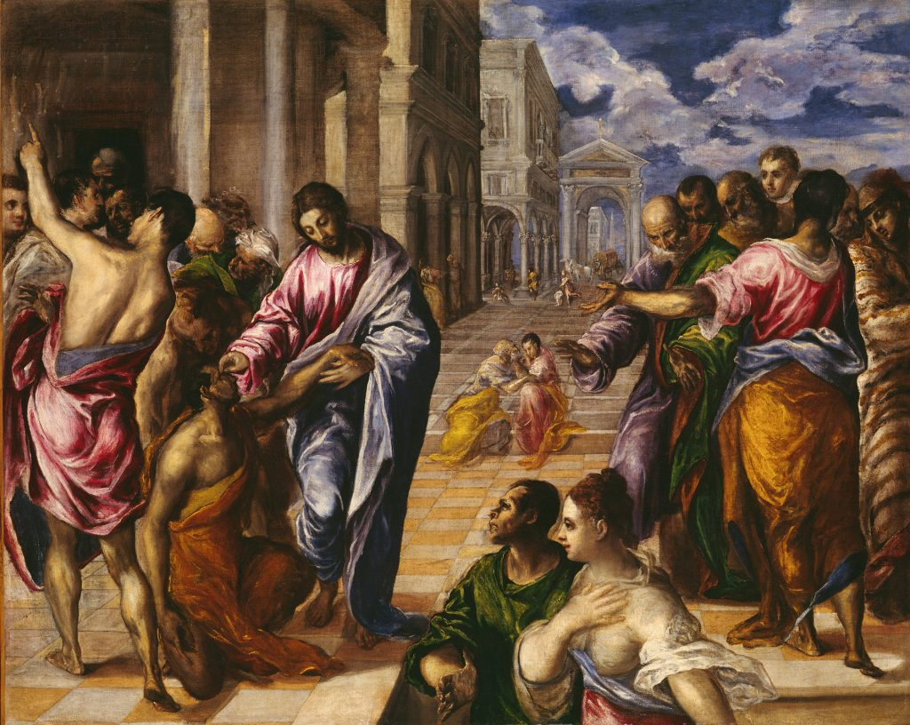 El Greco: Christ healing the blind